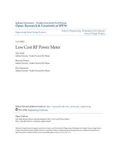 Low Cost RF Power Meter
