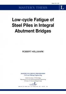 Low-cycle Fatigue of Steel Piles in Integral Abutment Bridges