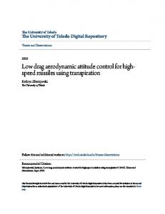 Low drag aerodynamic attitude control for highspeed missiles using transpiration
