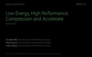 Low Energy, High Performance: Compression and Accelerate