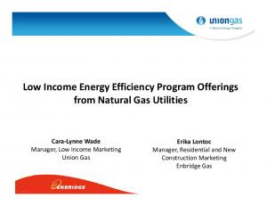 Low Income Energy Efficiency Program Offerings from Natural Gas Utilities