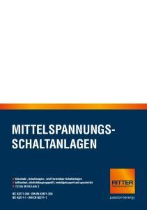 LOW MITTELSPANNUNGS- SWITCHGEARS SCHALTANLAGEN