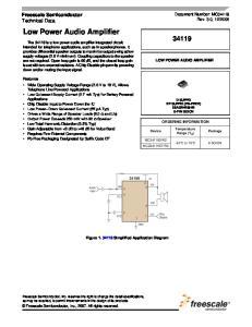 Low Power Audio Amplifier