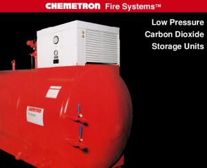 Low Pressure Carbon Dioxide Storage Units