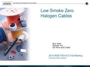 Low Smoke Zero Halogen Cables