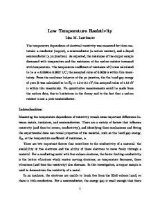 Low Temperature Resistivity