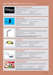 Low Vision Devices Product Directory