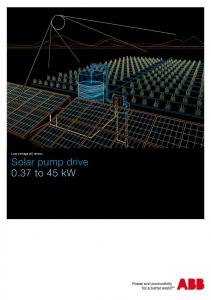 Low voltage AC drives Solar pump drive 0.37 to 45 kw