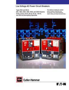 Low Voltage AC Power Circuit Breakers