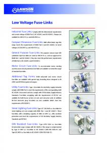 Low Voltage Fuse-Links