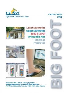 Lower Extremities Upper Extremities Body & Spinal Orthopedic Aids Stockings Prosthetics