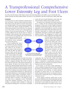 Lower Extremity Leg and Foot Ulcers