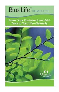 Lower Your Cholesterol and Add Years to Your Life Naturally