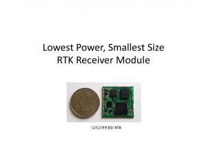 Lowest Power, Smallest Size RTK Receiver Module S2525F8-BD-RTK
