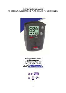 LPD 433 UHF FM VOICE PAGER