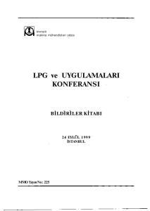 LPG ve UYGULAMALARI KONFERANSI