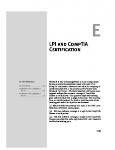 LPI and CompTIA Certification