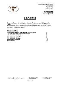 LPO Fax: Mobil: Bankverbindung: Sparkasse Holstein BLZ: Konto