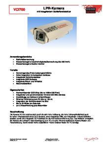LPR-Kamera mit integriertem Schleifendetektor