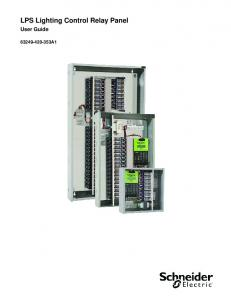 LPS Lighting Control Relay Panel