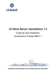 LS Omni Server Installation 1.2