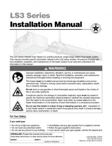LS3 Series Installation Manual