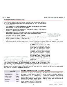 LSST E- News April 2011 Volume 4, Number 1