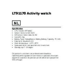 LT91170 Activity watch
