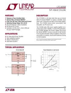 LTC4358 5A Ideal Diode DESCRIPTION FEATURES APPLICATIONS TYPICAL APPLICATION