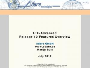 LTE-Advanced Release-10 Features Overview