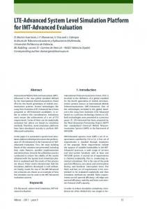 LTE-Advanced System Level Simulation Platform for IMT-Advanced Evaluation