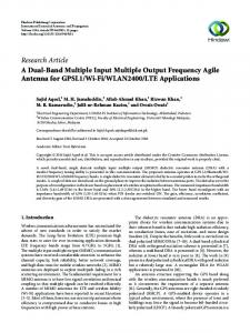 LTE Applications