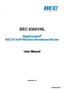 LTE VoIP Wireless Broadband Router User Manual