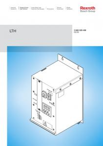 LTH Electric Drives and Controls. Industrial Hydraulics. Mobile Hydraulics. Linear Motion and. Service Automation PROGRAMM LTH