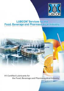 LUBCON Services for the Food, Beverage and Pharmaceutical Industry