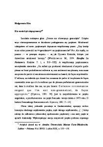 Lublin Polonia. Vol. XVIII. Lublin 2000, s