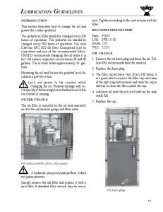 LUBRICATION GUIDELINES