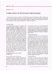LUBRICATION OF SPACECRAFT MECHANISMS