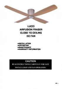 LUCCI AIRFUSION FRASER CLOSE TO CEILING DC FAN