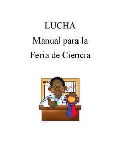 LUCHA Manual para la Feria de Ciencia