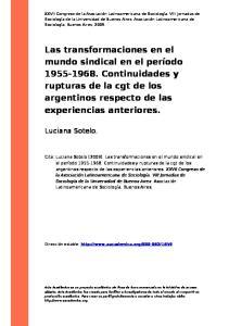 Luciana Sotelo. Dirección estable: