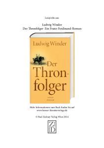 Ludwig Winder Der Thronfolger Ein Franz-Ferdinand-Roman