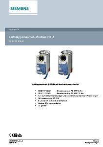 Luftklappenantrieb Modbus RTU
