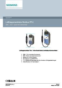 Luftklappenantriebe Modbus RTU