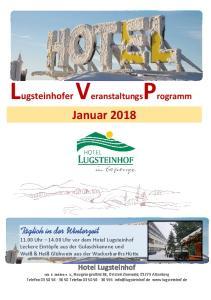 Lugsteinhofer VeranstaltungsProgramm Januar 2018