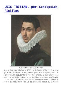 LUIS TRISTAN, por Concepción Pinillos