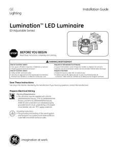 Lumination TM LED Luminaire (DI Adjustable Series)