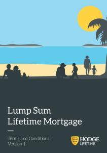 Lump Sum Lifetime Mortgage