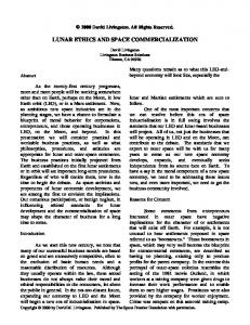 LUNAR ETHICS AND SPACE COMMERCIALIZATION