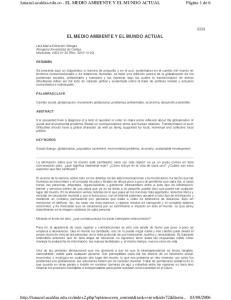 lunazul.ucaldas.edu.co - EL MEDIO AMBIENTE Y EL MUNDO ACTUAL EL MEDIO AMBIENTE Y EL MUNDO ACTUAL